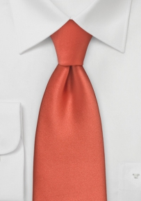 Mens Tie in Dark Coral Red