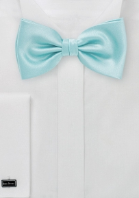 Solid Mens Bow Tie in Pool Blue