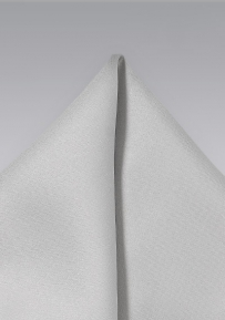 Light Silver Mens Pocket Square