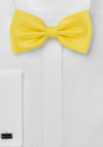 Solid Mens Bow Tie in Bright Sun Yellow