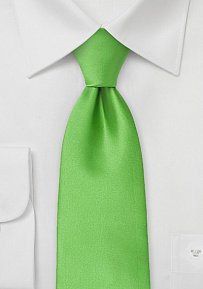 Solid Color Kelly Green Tie in XXL Length