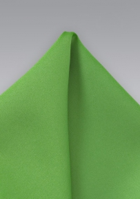 Solid Mens Pocket Square in Kelly Green