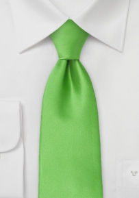 Solid Color Kelly Green Tie