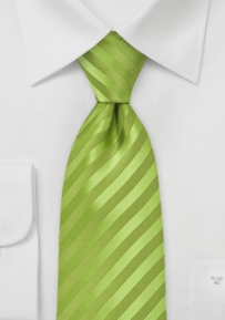 Striped Tie in Apple Green
