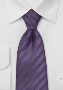 Plum Purple Striped Tie