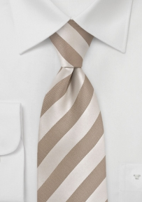 Golden Tan Striped Tie