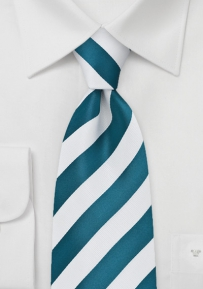 Royal Blue and White Striped Tie for Kids