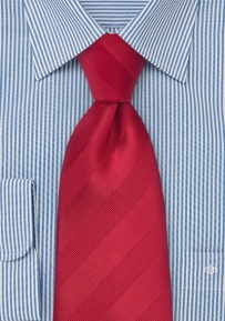 Asymmetrical Tie in Reds