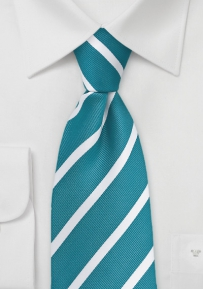 Rich Peacock and White Striped Tie