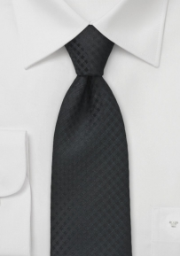 Two Toned Check Tie in Black