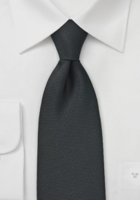 Solid Matte Black Tie in Kids Size