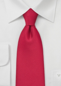 Finely Textured Tie in Bold Red