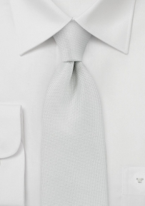 Finely Woven Tie in Soft Ivory