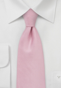 Rose-Pink Grenadine Weave Tie for Kids