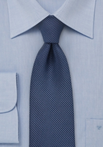 Navy Tie with Grenadine Texture for Boys
