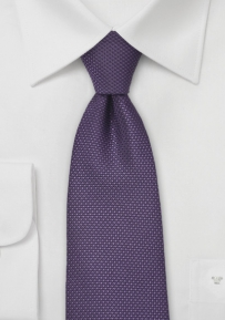 Grape Hued Kids Tie with Grenadine Texture