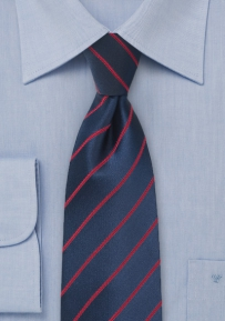 Twilight Blue and Ruby Red Tie for Kids