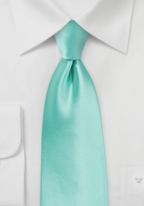 Single Colored Necktie in Beach Glass