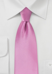Orchid Pink Colored Extra Long Tie