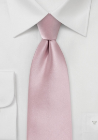 Extra Long Mens Tie in Soft Pink