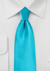 Bold Aqua Hued Tie in XL Length