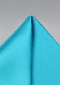Bold Aqua Color Pocket Square