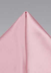 Shiny Petal Pink Pocket Square