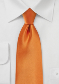 Solid Boys Neck Tie in Tangerine