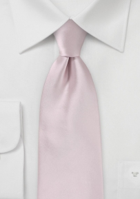 Solid XL Length Necktie in Blush Pink