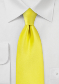 Canary Yellow Kids Length Tie