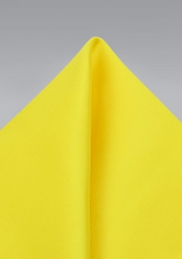 Canary Yellow Pocket Square