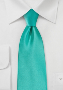 Extra Long Necktie in Mermaid Color
