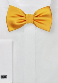Golden Saffron Colored Bow Tie