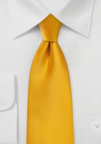 Golden Saffron Necktie in XL Length