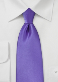 Bright Colored Tie in Freesia Purple