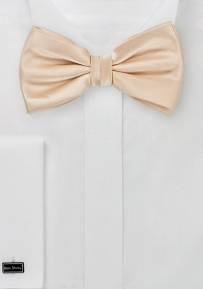 Shiny Champagne Kids Bow Tie