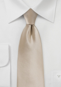 Extra Long Champagne Colored Necktie