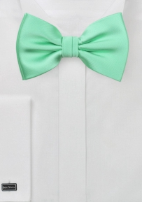Shiny Mint Bow Tie