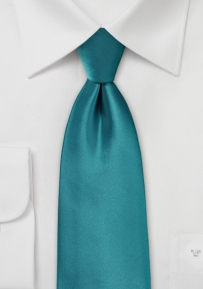 Shiny Necktie in Oasis Color