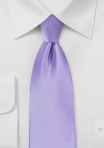 Shiny Lavender Color Tie