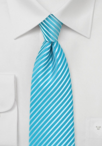 Bright Pool Color Tie in Extra Long Length