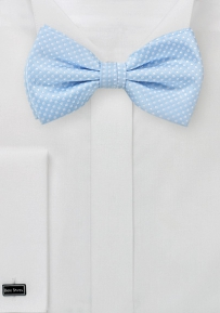 Elegant Pin Dot Bow Tie in Baby Blue