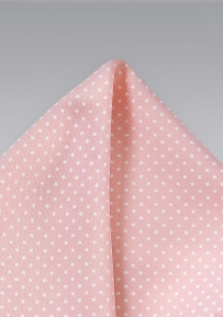 Peony Pink and White Pocket Square
