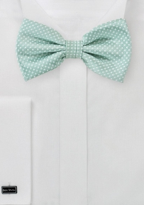 Pin Dot Bow Tie in Soft Mint