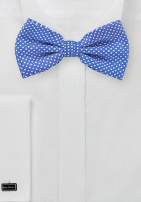 Pin Dot Bow Tie in Horizon Blue