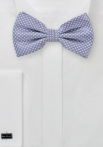 Men's Pin Dot Bow Tie in Lilac