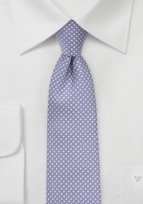 Narrow Pin Dot Tie in Lilac