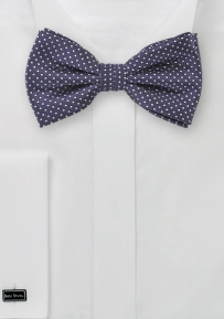 Pin Dot Bow Tie in Dark Amethyst Purple
