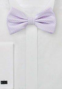 Pin Dot Bow Tie in Sot Lavender