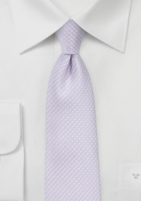 Narrow Pin Dot Tie in Lavender